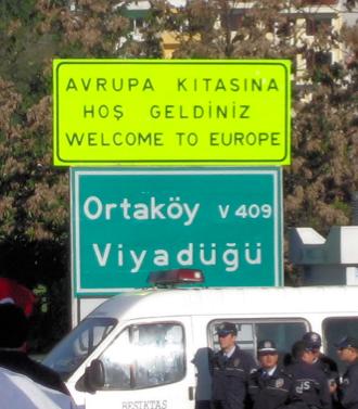 Street Sign in Turkish