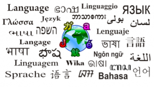 "The word ""language"" in many different languages"