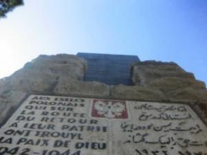 A tombstone in the Polish Cemetery in Tehran, Iran