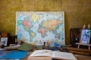 map-book-writing-translation