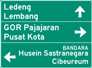 Indonesian Road Sign