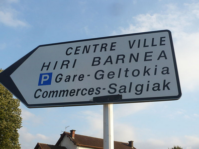 Street Sign Basque