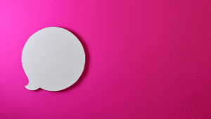 speech-bubble-on-pink-background