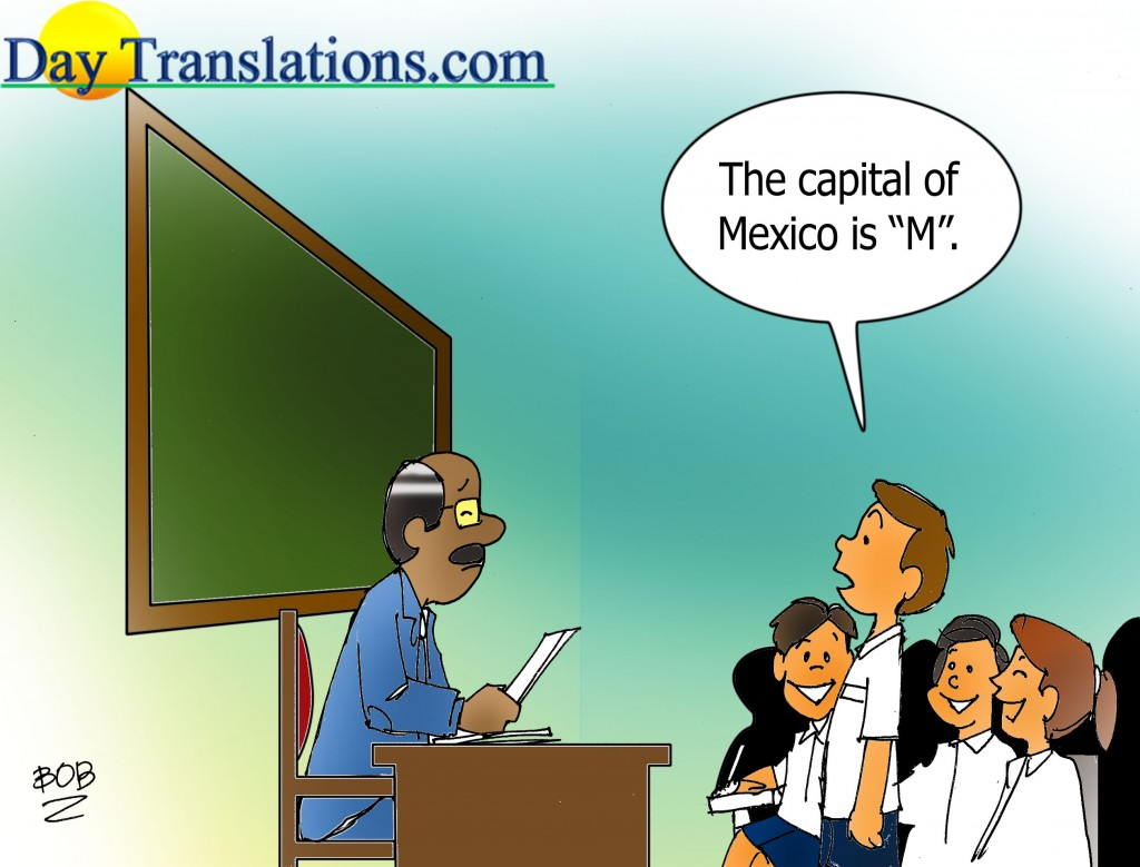 Today's Cartoon - Capital of Mexico