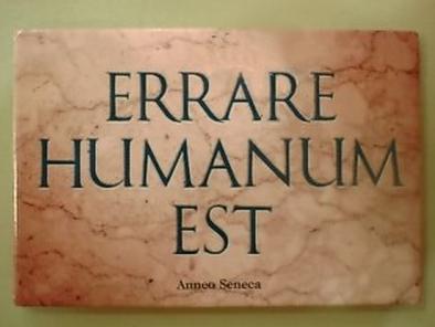 Errare Humanum Est