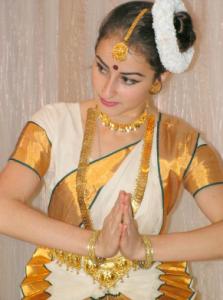 Dancer in Sari Day Translations Languages