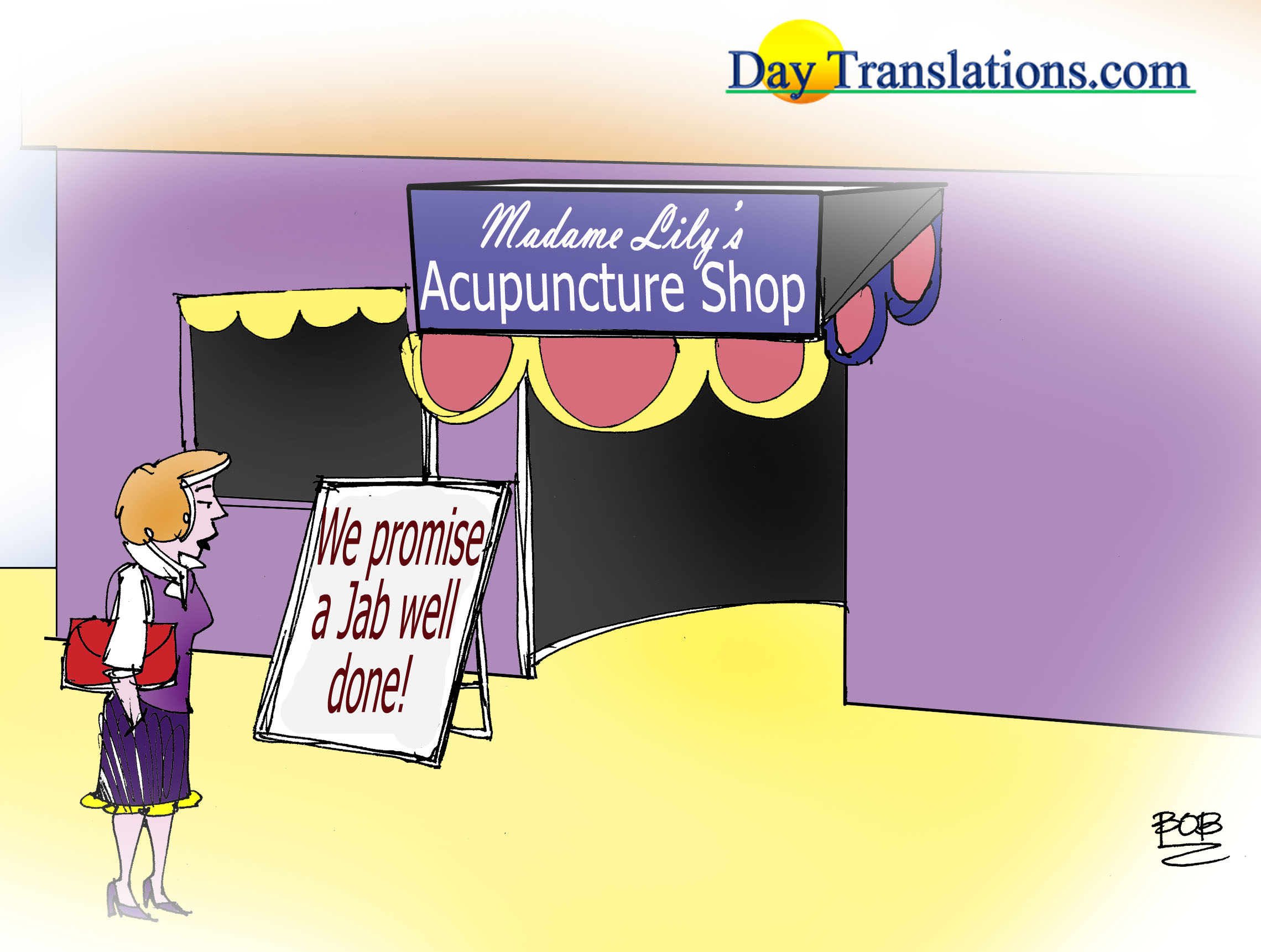 Today's Cartoon - Acupuncture