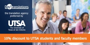 Day translations and UTSA