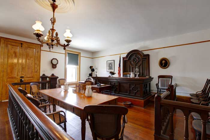 Inside the courtroom