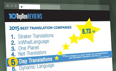 Top Ten reviews translation companies