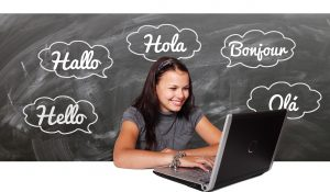 Internet Languages on a blackboard