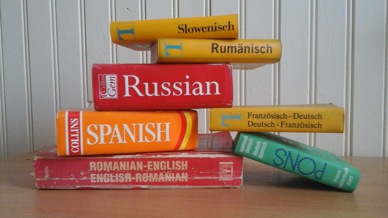 dictionaries on a table