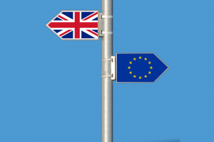 Brexit UK Flag and Europe Flag