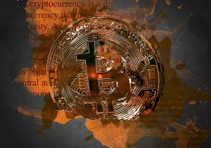 bitcoin cryptocurrency artist render