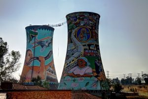 base jumping off a former powerplant cooling tower in johannesburg south africa