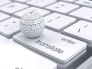 group translation sphere on the computer keyboard