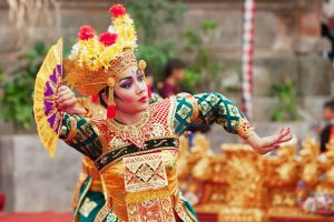 indonesian dancer in traditional costume