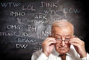 keeping up with internet slang and social media acronyms senior and slang on blackboard