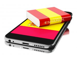 spanish dictionary and mobile device