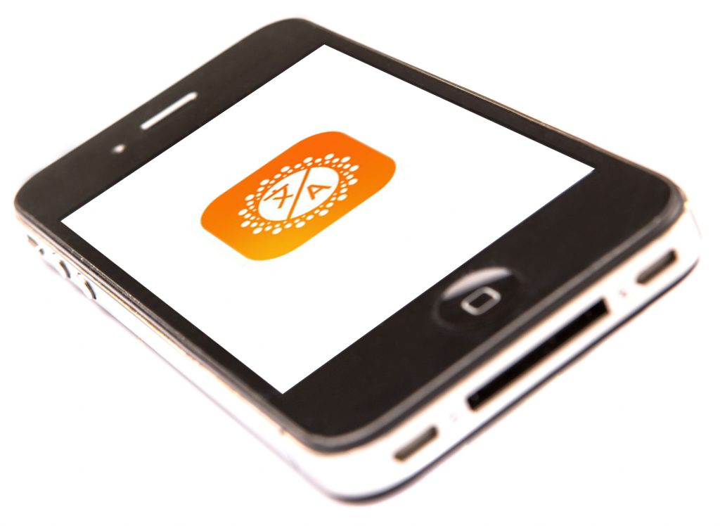 Day Translator App Logo on Phone Screen
