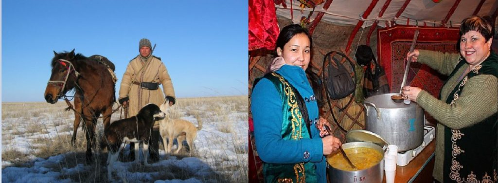 Kazakh_shepard_with_dogs_and_horse_left_and_Nowruz_in_Kazakhstan_right