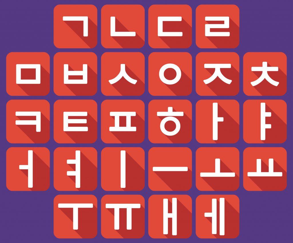 Korean language alphabet