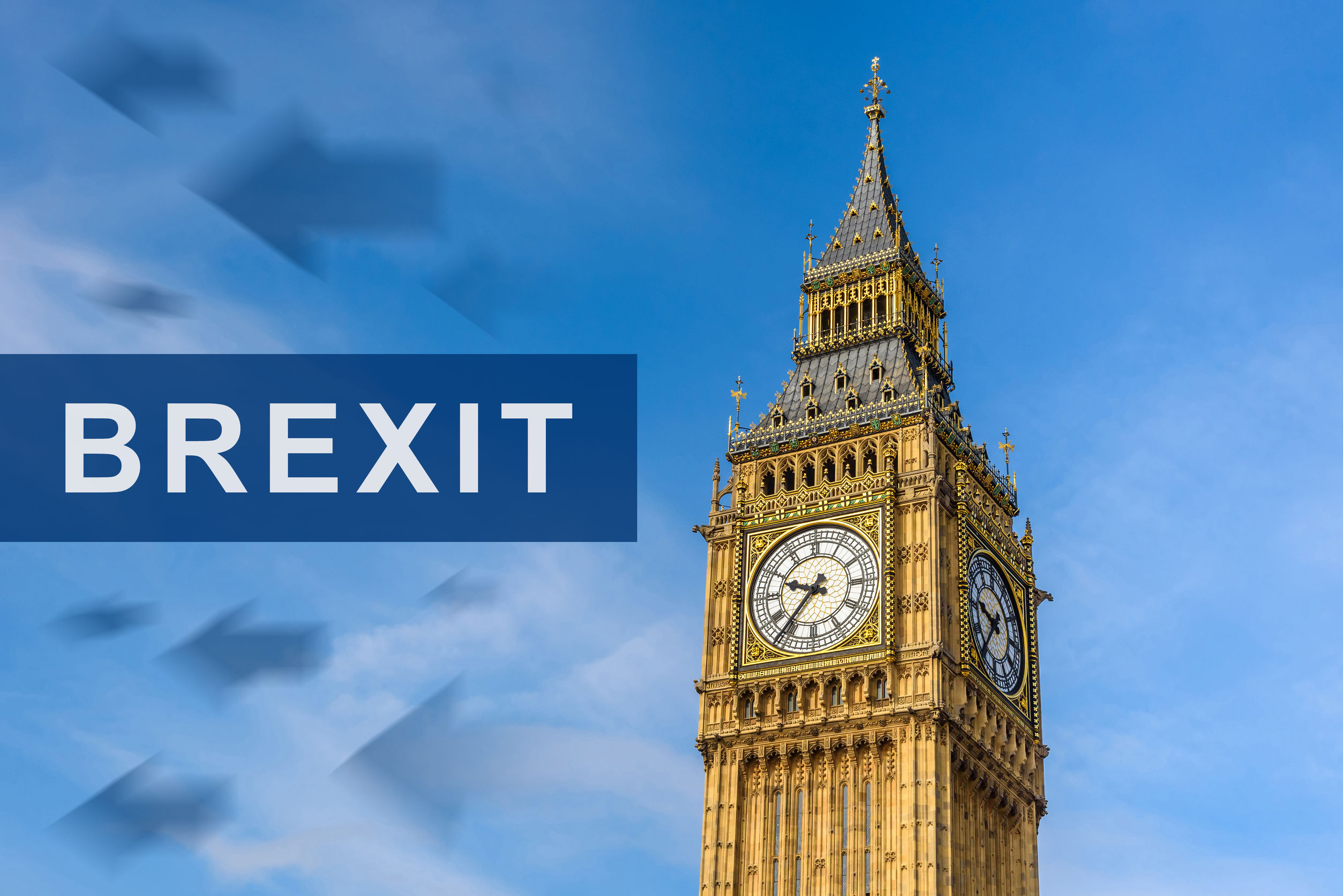 big ben with the word brexit