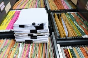 file folder with documents and important documents