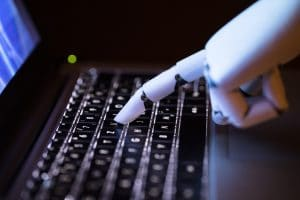 robot hand following programming language code