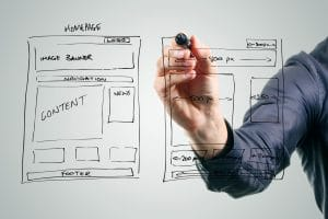 wireframe during website translation and localization planning