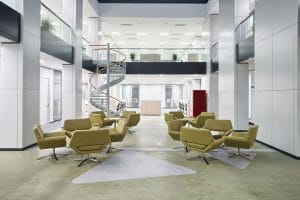Modern Office Lobby Supporting Smart Learning Environments of the Future