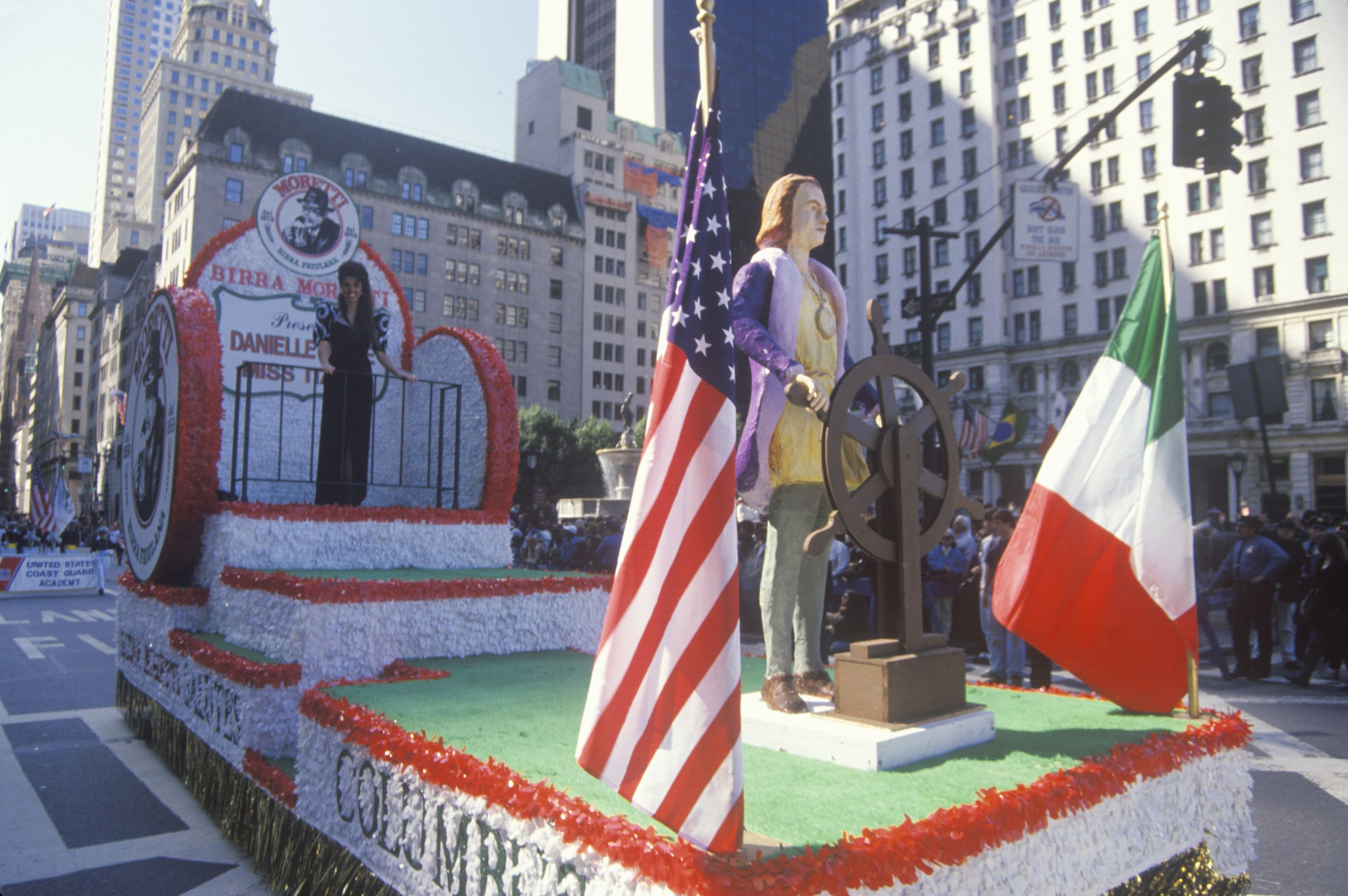 Native American Day and Columbus Day Parade Float, New York City, New York