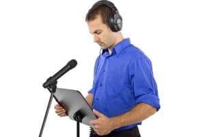 male voice over artist