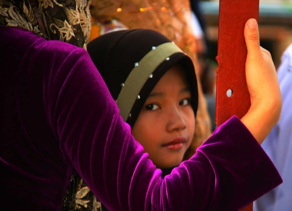young girl wearing abaya