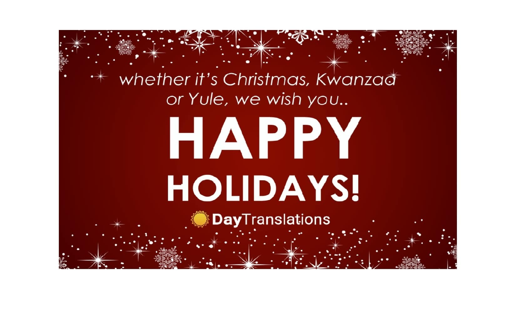 Happy Holidays from Day Translations Inc