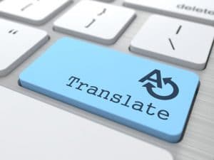 Translate Button on a modern keyboard