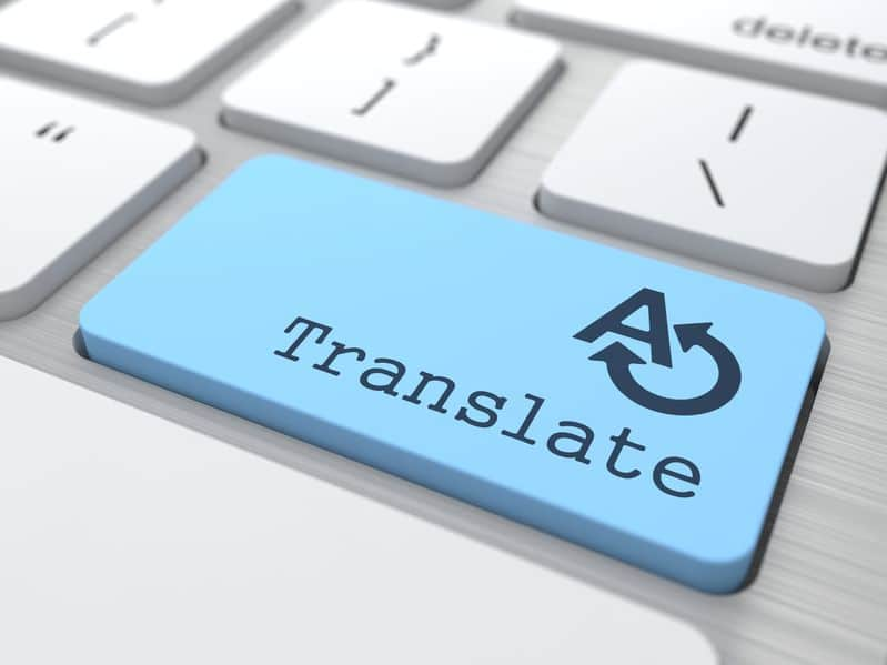 Translate Button on a modern keyboard