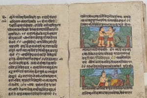 Scenes from the Ramayana in antique manuscript - Jaipur Literature Festival