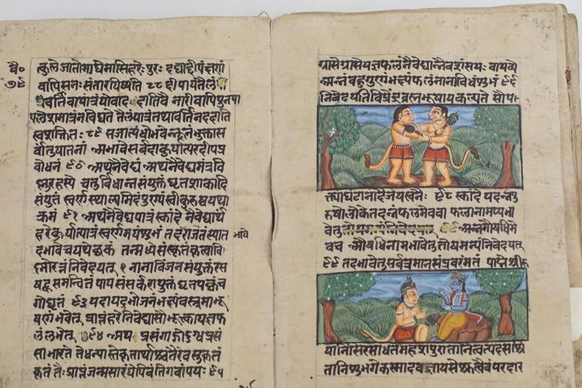 Scenes from the Ramayana in antique manuscript - Jaipur Literature Festival