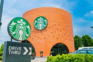 Starbucks Coffee Shop in Bangkok Province, Thailand