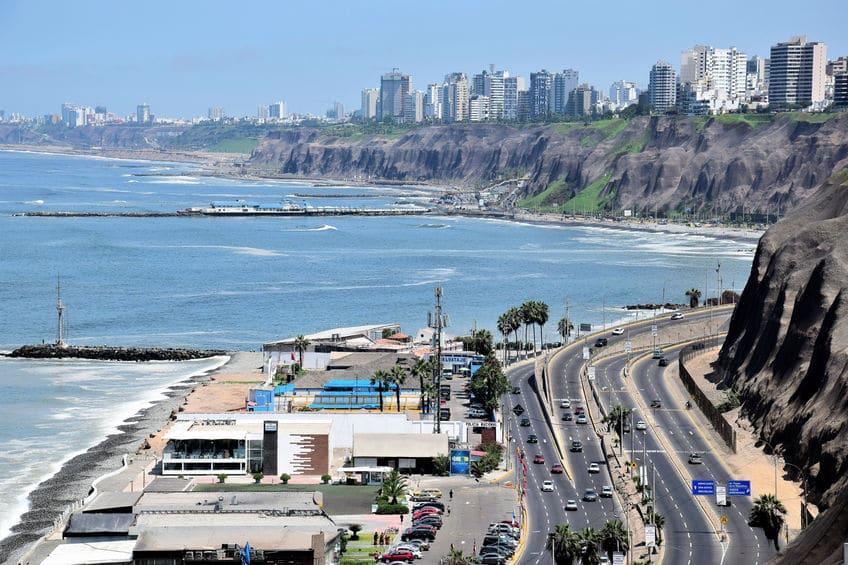 Stunning View of the Coastline in Lima, Peru