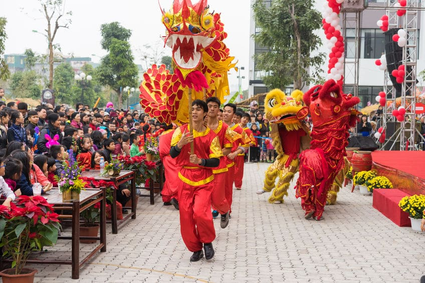 Dragon and Lion Dance to celebrate the Chinese New Year