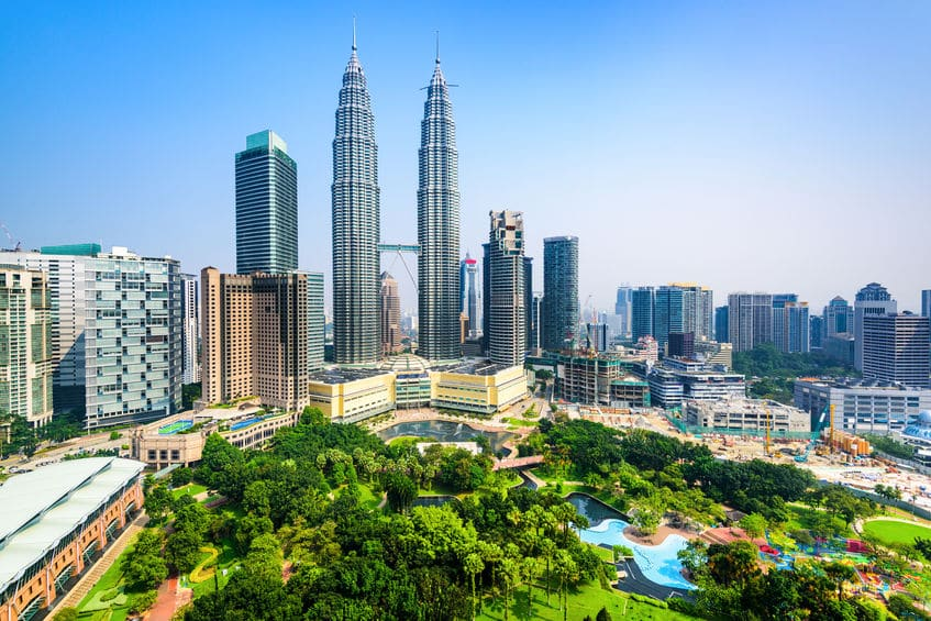 Kuala Lumpur, Malaysia City Skyline View