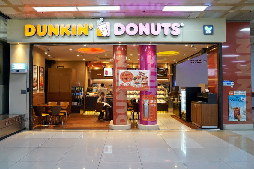 One of the global franchise of Dunkin Donuts at Gimpo Airport Domestic Terminal