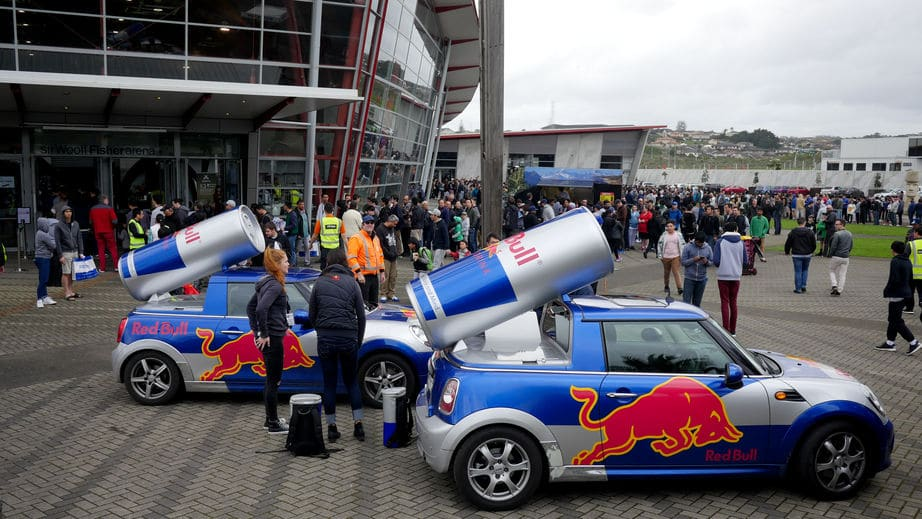 Red Bull Cars in Vodafone Event centre, Auckland, New Zealand