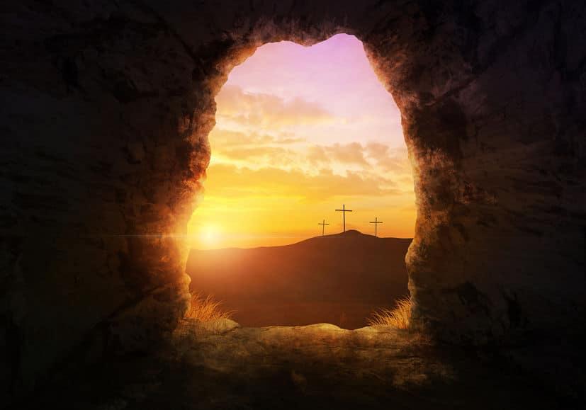 Easter Sunday Resurrection Scene