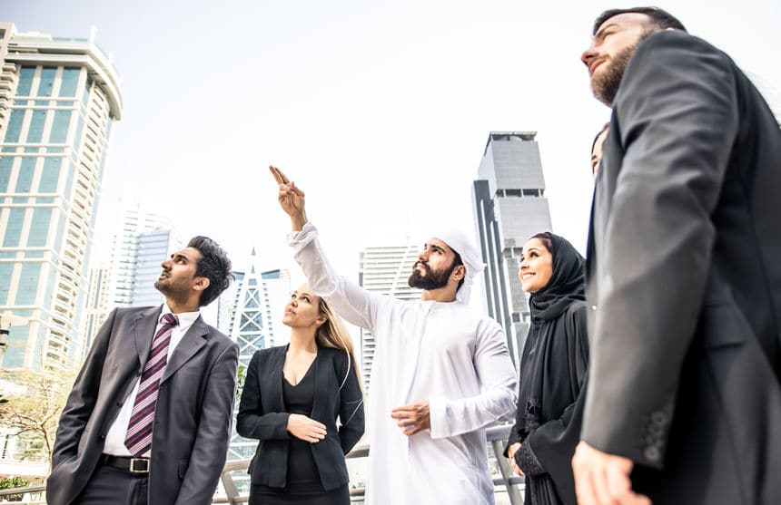 foreign business people scouting for business in the Arab world