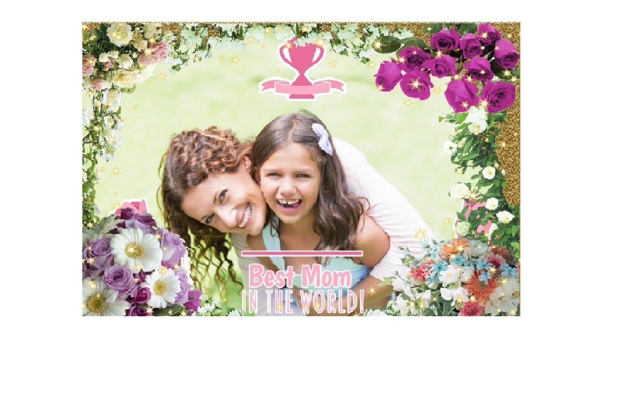 mothers day greeting with frame