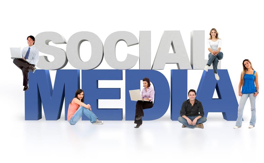 people around the social media word