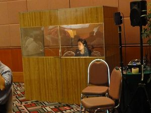 interpreter booth setup of an interpreting company